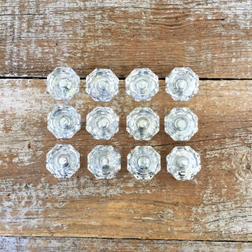 Drawer Knobs 12 Drawer Pulls Clear Glass Drawer Knobs Plastic Drawer Knobs Cabinet Drawer Pulls Dresser Drawer Knobs Mid Century Hardware