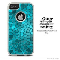 The Blue Mosaic Skin For The iPhone 4-4s or 5-5s Otterbox Commuter Case