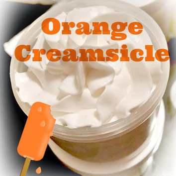 Orange Creamsicle Whipped Body Butter, Whipped Lotion, Vegan Body Butter, Shea Butter Moisturizer, Dry Skin Care, 4oz