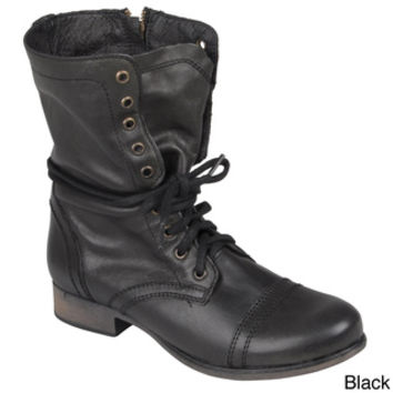 Steve Madden Women's 'Troopa' Lace-Up Round Toe Combat Boots