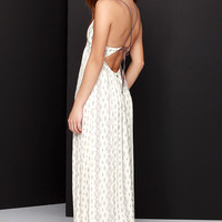O'Neill Dean Cream Print Maxi Dress