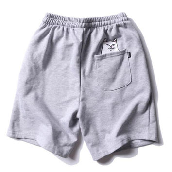 RIPNDIP Lord Nermal Drawstring Gray Shorts