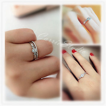 delicate and pear diamond ring engagement wedding simple rings skinny pin