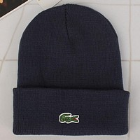Perfect Lacoste Fashion Edgy  Winter Beanies Knit Hat Cap