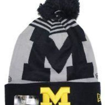 NCAA Michigan Wolverines Logo Whiz 2 Knit Hat with Pom
