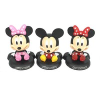 1pcs 12cm Cartoon Animal mouse Mickey Minnie figure toy red Minnie mouse model Action figures Head shake car decoration