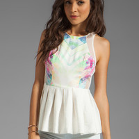 Finders Keepers Dr. Love Top in Print/Ivory from REVOLVEclothing.com