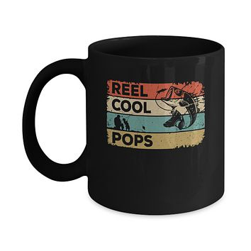 Vintage Reel Cool Pops Fish Fishing Fathers Day Mug