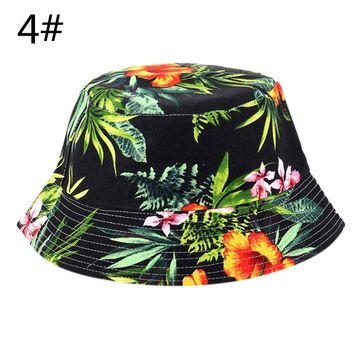 Unisex Floral Sun Hats Funny Summer Holiday Novelty Beach Outdoor Cap Bucket Fishing Hat Sun Protetion for Men Women