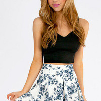 Floral It's Worth Skater Skirt $33