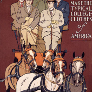 David Adler & Sons Clothing Co. by Edward Penfield Fine Art Print