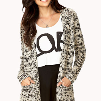 Cushy Heathered Open-Front Cardigan