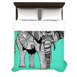 "Pom Graphic Design ""Elephant of Namibia Color"" Woven Duvet Cover"
