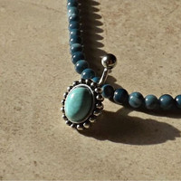 Turquoise Stone Belly Ring Fits In Navel Body Jewelry