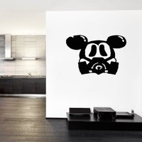 Ik241 Wall Decal Sticker Decor Mickey Mouse Raspiratore Apocalypse Postapokalipsis Interior Living Bed