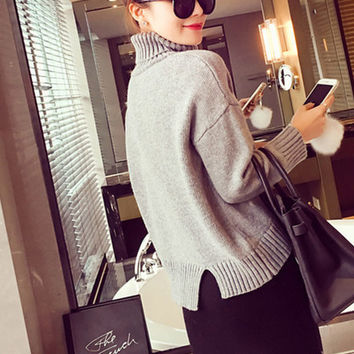 Fashion Thickened Turtleneck pullover Sweater