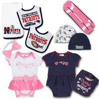 New England Patriots Baby Fan Girl's Gift Set