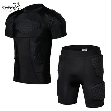 Anti-collision Basketball Jersey Quick Dry Training Vest Shorts College Throwback Football Jerseys Body Protection Men Bodysuit