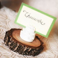 Mini Cake Stand Wooden Branch Place Card Holder | roxyheartvintage - Wedding on ArtFire