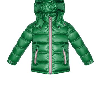 Gaston Hooded Quilted Jacket Green, Sizes