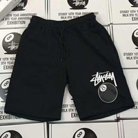 ONETOW Stussy' Fashion Print Casual Beach Pants Summer Sports Cotton Shorts G-A-GHSY-1