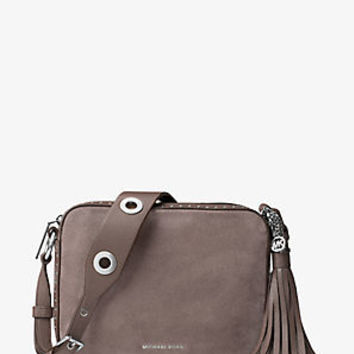 Brooklyn Large Suede Camera Bag | Michael Kors