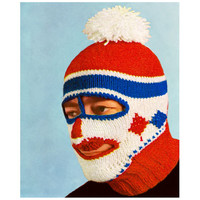 Knitting Pattern Ski Mask Balaclava Dickey Helmet Mens Womens Ski Hat cap Crochet pattern vtg PDF Instant Download knitting patterns vtg