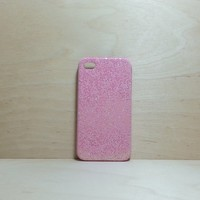 For Apple iPhone 4 / 4s Light Pink Glitter Case