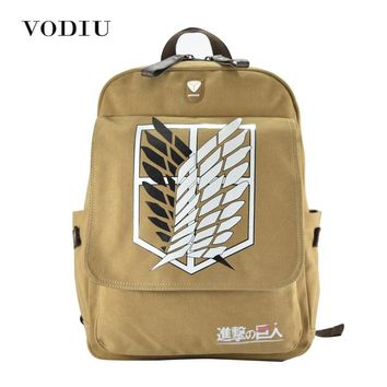 Cool Attack on Titan Brand Boys No   Japanese Cosplay Canvas Backpack Schoolbag Shoulder Bag Knapsack Scouting Legion AT_90_11