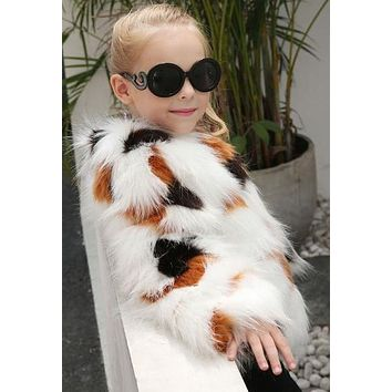 Newest fashion Kids Baby Girls Autumn Winter Faux Fur Coat Jacket Thick Warm Outwear Clothes trench coats for girls cute casaco