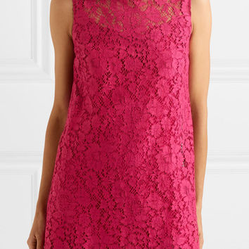 Dolce & Gabbana - Cotton-blend lace mini dress