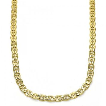 Gold Layered 04.213.0107.20 Basic Necklace, Mariner Design, Polished Finish, Golden Tone