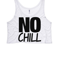NO CHILL Boxy Crop Top | Bye Felicia Womens Bye Felicia Shirts Bae Tank Top Crop Top Boxy Tank Cat is Bae Pizza Is Bae