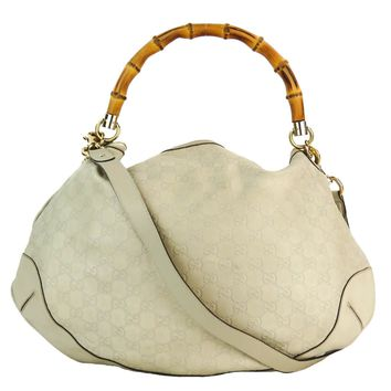 Gucci Beige Guccissima Leather Peggy Hobo Bag