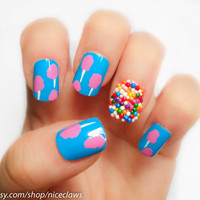 Cotton Candy and Sprinkles Nails Katy Perry Inspired