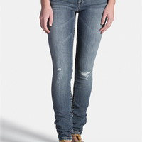 Kaylee Medium Wash Lightly Destructed Jegging - Medium Sandblast