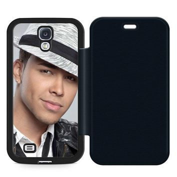 Prince Royce Hat Leather Wallet Flip Case Samsung Galaxy S4