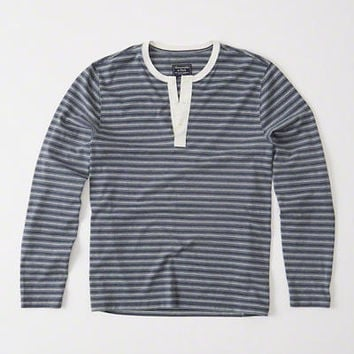 Mens Long-Sleeve Burnout Henley | Mens New Arrivals | Abercrombie.com