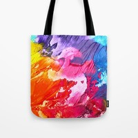 BRIGHT ABSTRACT PAINTING Tote Bag by digitaleffects