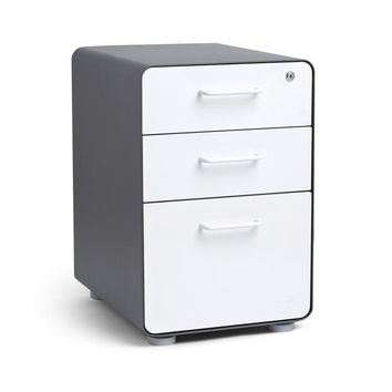 White Out Grey Minimalist Drawer by Poppin