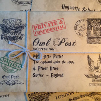 Harry Potter Acceptance Letter, with a FREE GOLD Hogwarts Express Ticket