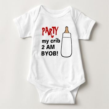 Party my crib 2AM BYOB baby bodyshirt Baby Bodysuit