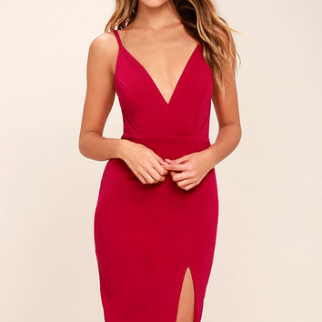Chart Topper Berry Pink Bodycon Dress