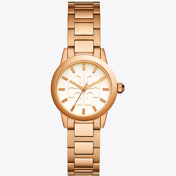 Tory Burch Gigi Watch, Rose Gold/ivory, 28mm