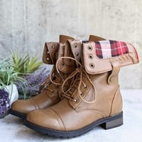 adjustable classic combat boot - taupe