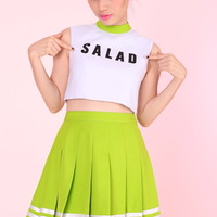 Glitters For Dinner — MADE TO ORDER - TEAM SALAD Cheer Set (Top and Skirt)