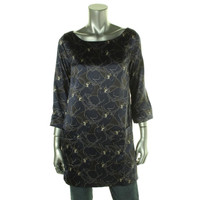 Marc Jacobs Womens Silk Printed Tunic Top