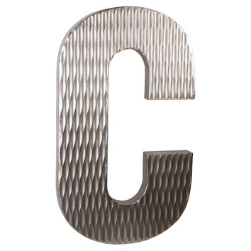 Wood Letter, C Design, Large, Letters