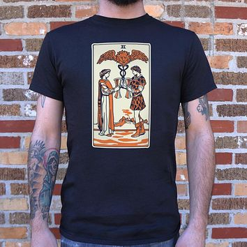 Tarot Two Of Cups T-Shirt (Mens)