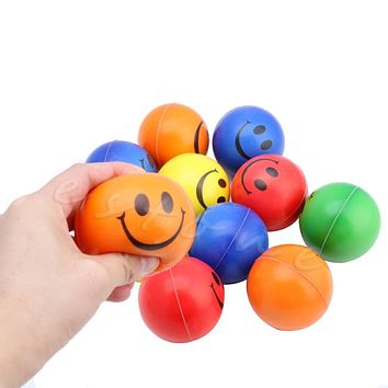 1Pc Smiley Face Hand Wrist Exercise Stress Ball Reliever Mood Squeeze Toy